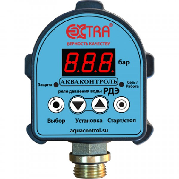 Реле давления воды электронное для систем водоснабжения РДЭ (1,5 кВт)