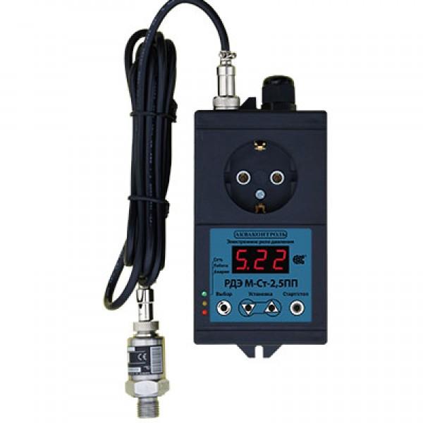 Реле давления электронное РДЭ М-Ст-2,5ПП с плавным пуском и выносным датчиком давления (4-20мА )